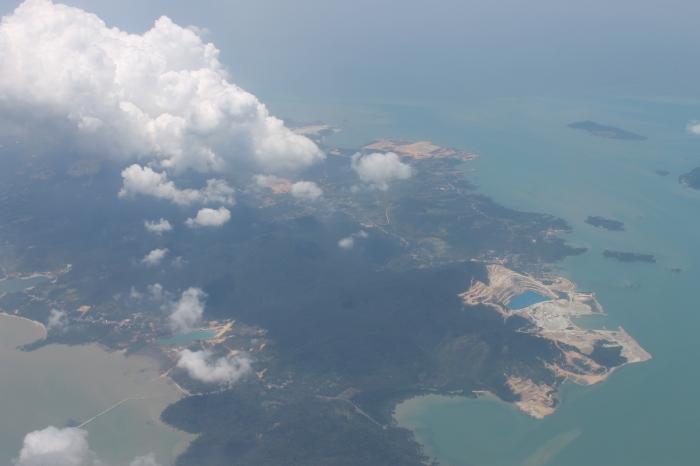 vue-atterrissage-aéroport-singapour