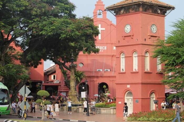 Le dutch square à Melaka, un petit havre de paix au milieu de la malaisie