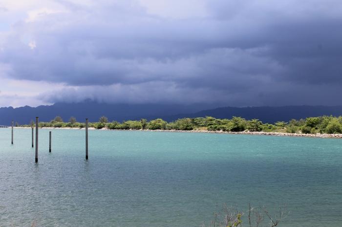 paysage superbe avec un orage qui s'annonce sur l'île de Langkawi