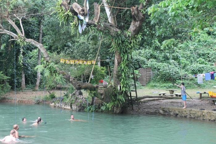 7 Le blue lagoon de Vang Vieng