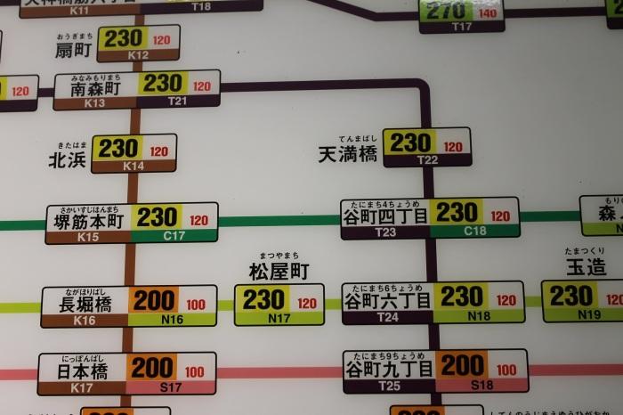 photo du plan du metro a osaka