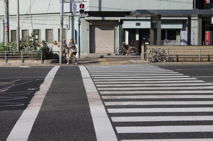 passage pieton a Osaka dans le quartier de Tennoji