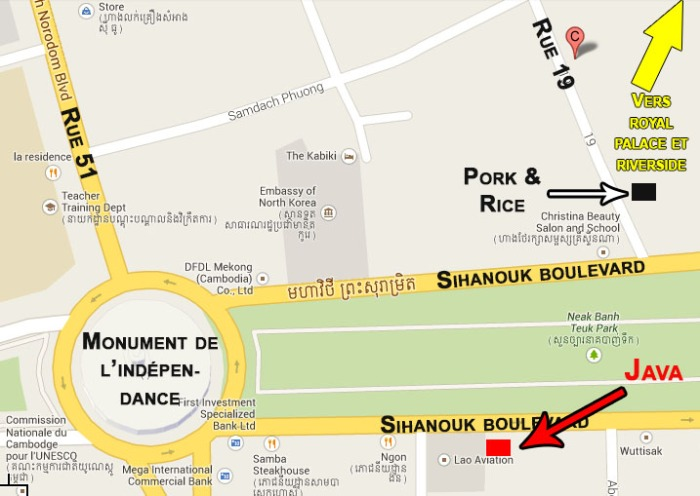 plan restaurant Phnom Penh