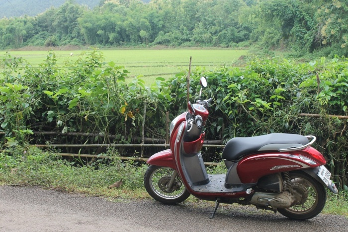 scooter à luang prabang