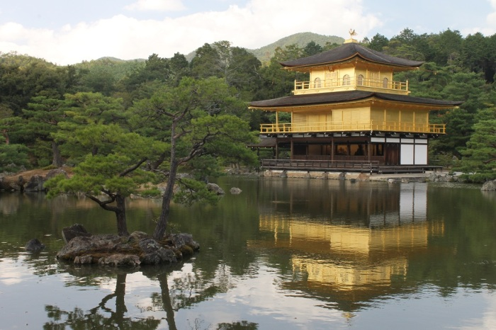Le pavillon d'or de Kyoto, plus communément appelé le Golden Pavillon