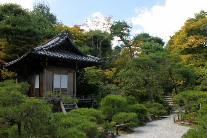 Un temple dans la zone d'Arashiyama, endroit très prisé des touristes pour sa fameuse foret de bambous, emblème de Kyoto