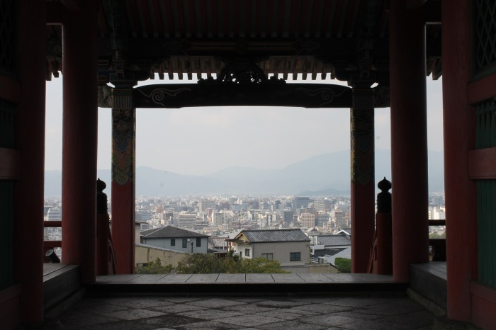 vue de Kyoto depuis le temple de kiyomizu-dera