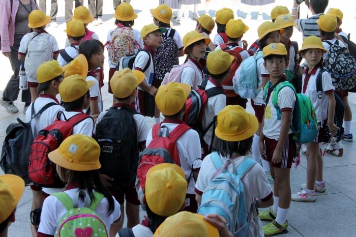 Enfants qui visitent Nara