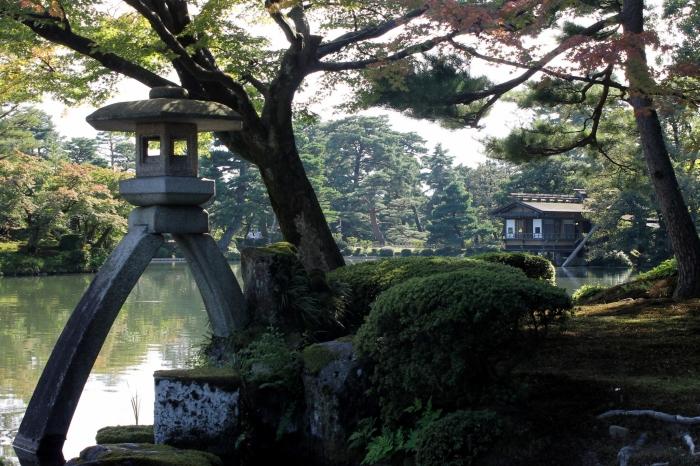 Kenroku-en, le jardin de Kanazawa très connu pour sa fameuse lanterne.
