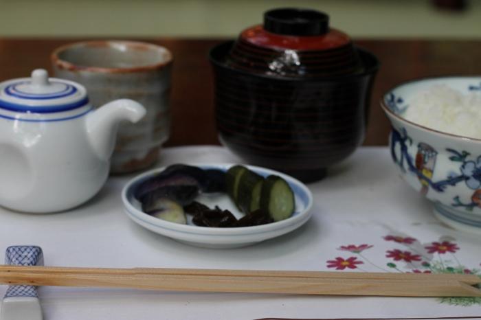 Le plat classique de riz dans un restaurant de Kibune au nord de Kyoto, un grand classique lorsque vous visitez le japon.