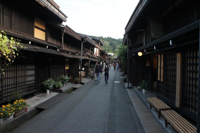 rue dans le quartier commerçant de Takayama